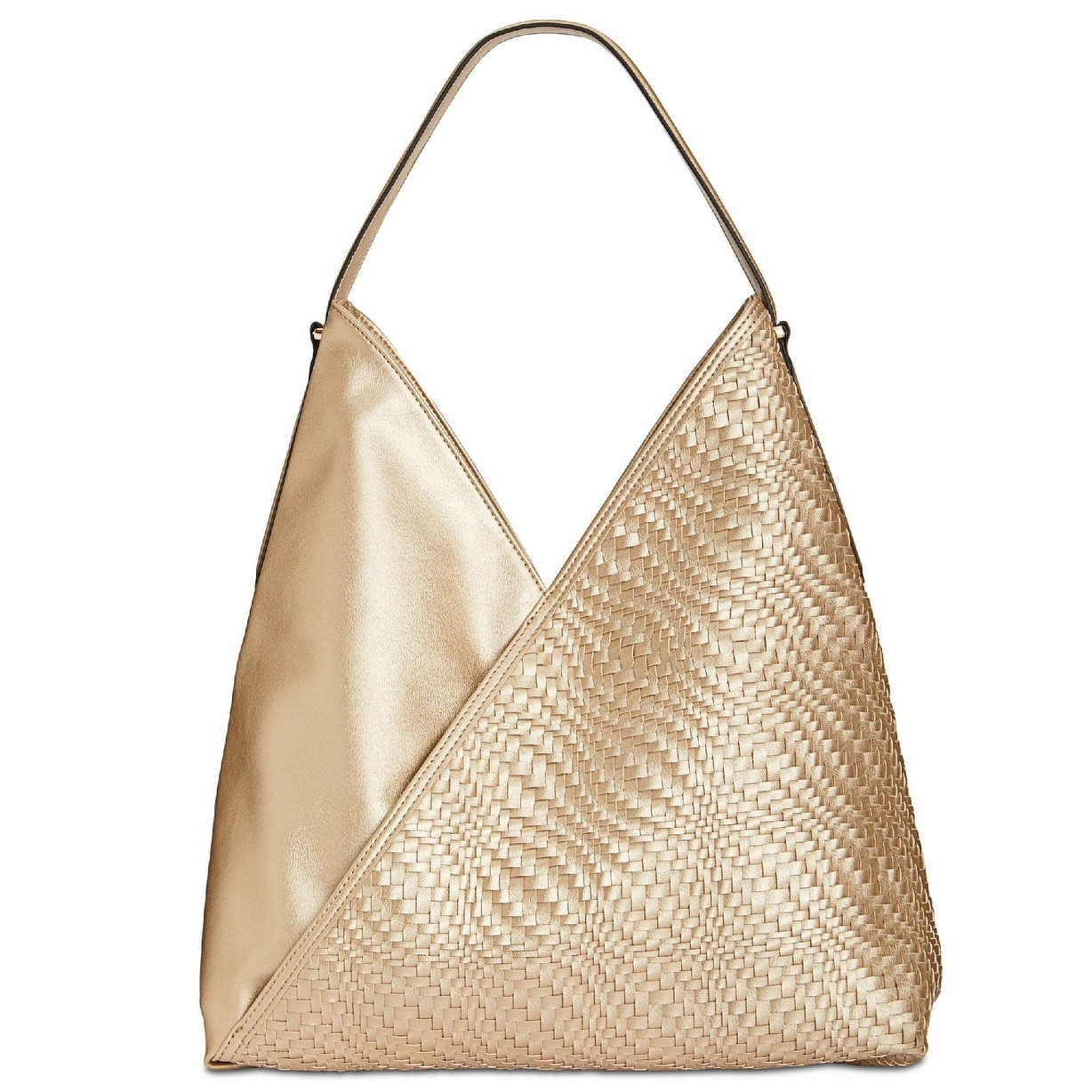 9c90be0c4c4a Shop INC International Concepts Blakke Woven Large Hobo Bag Gold - Free  Shipping Today - Overstock - 25966255