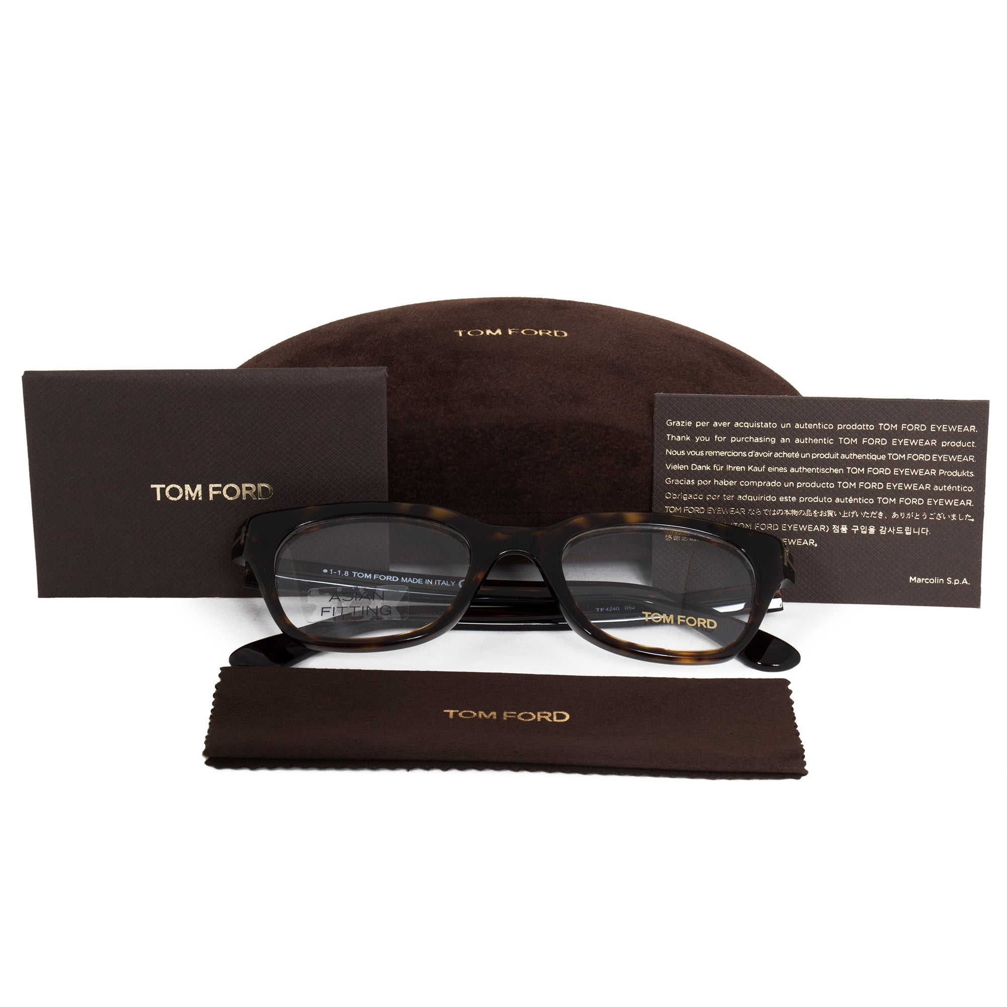 b7e70a9d284 Shop Tom Ford FT4240 001 51 Square - Free Shipping Today - Overstock -  21408954