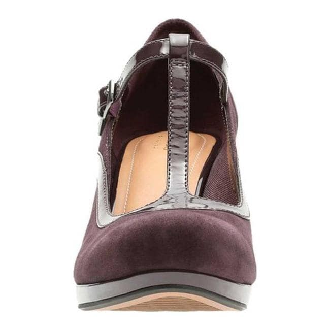 a822710a59262 Shop Clarks Women's Chorus Pitch Mary Jane Aubergine Full Grain/Patent  Combination - Free Shipping Today - Overstock - 18158830