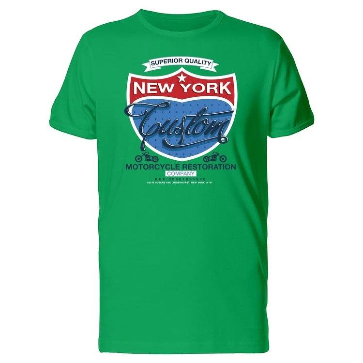 Shop New York Custom Shield Logo Tee Men s -Image by Shutterstock - Free  Shipping On Orders Over  45 - Overstock.com - 22207130 566686a6a06