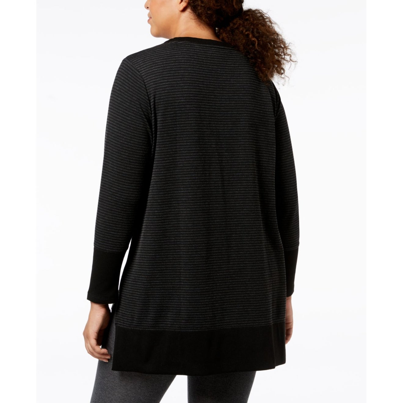 844431e007e Shop Ideology Black Women's Size 2X Plus Performance Striped Tunic Top -  Free Shipping On Orders Over $45 - Overstock - 28267926