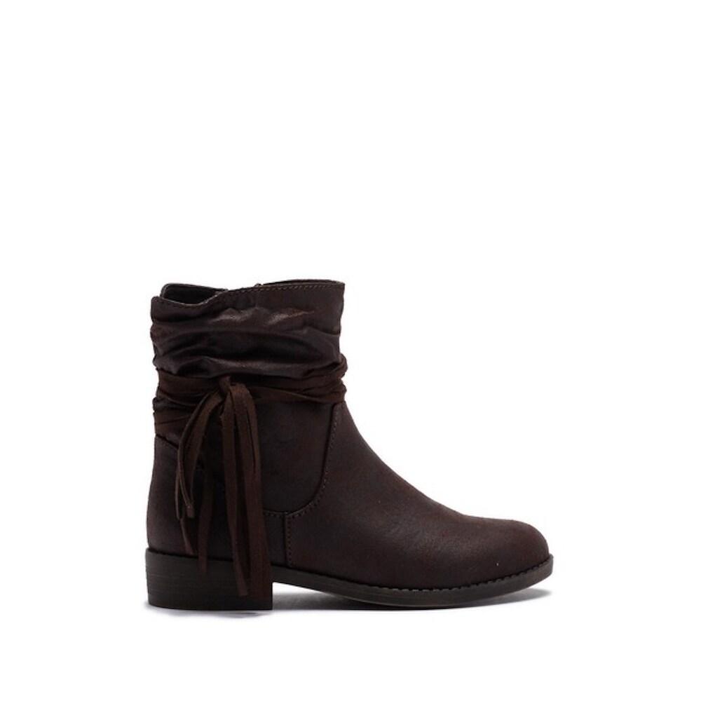 cf55dc04329 Kids MINI MIA Girls Little Kamali Mid-Calf Zipper Western Boots