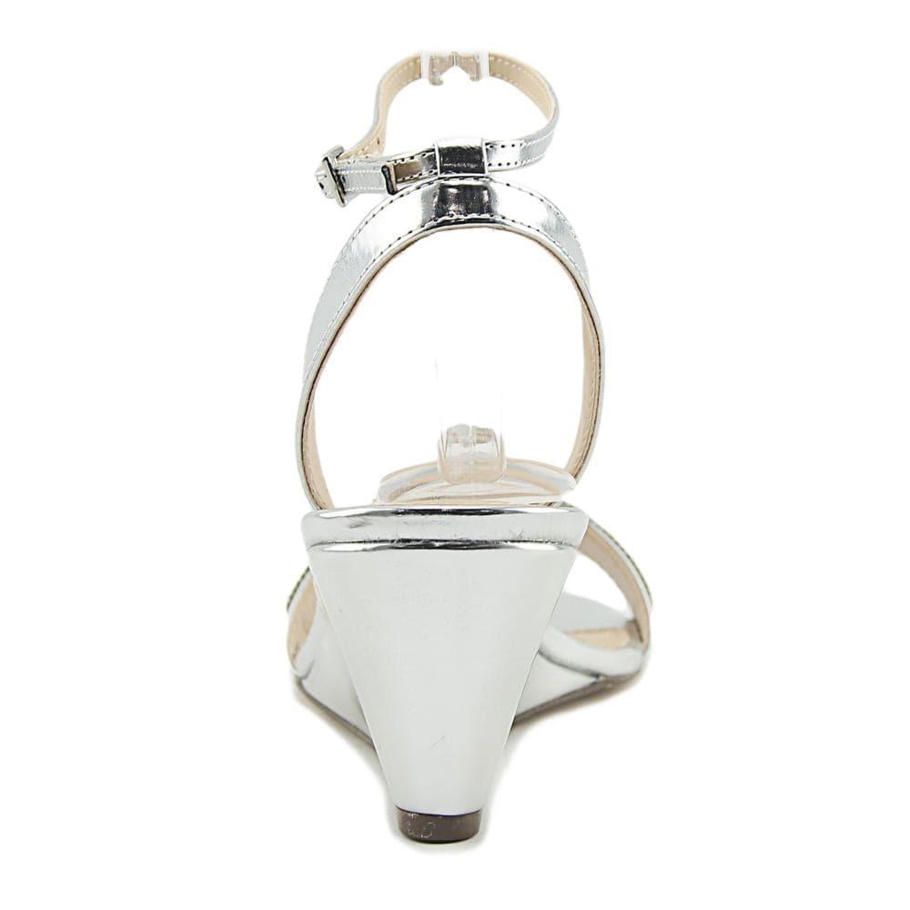 2bb9aad8e59 Shop Nina Nolia Women Open Toe Synthetic Silver Wedge Heel - Free Shipping  On Orders Over  45 - Overstock - 19740341
