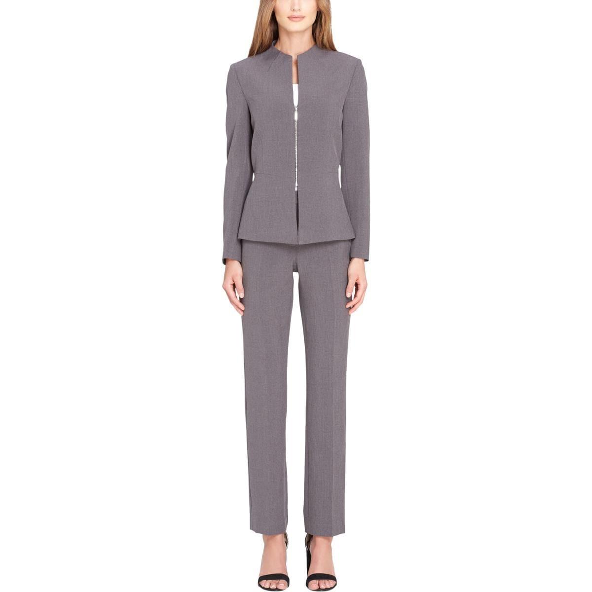 0f23dbd67261 Shop Tahari ASL Womens Pant Suit Zip Front Work Wear - 6 - Free ...