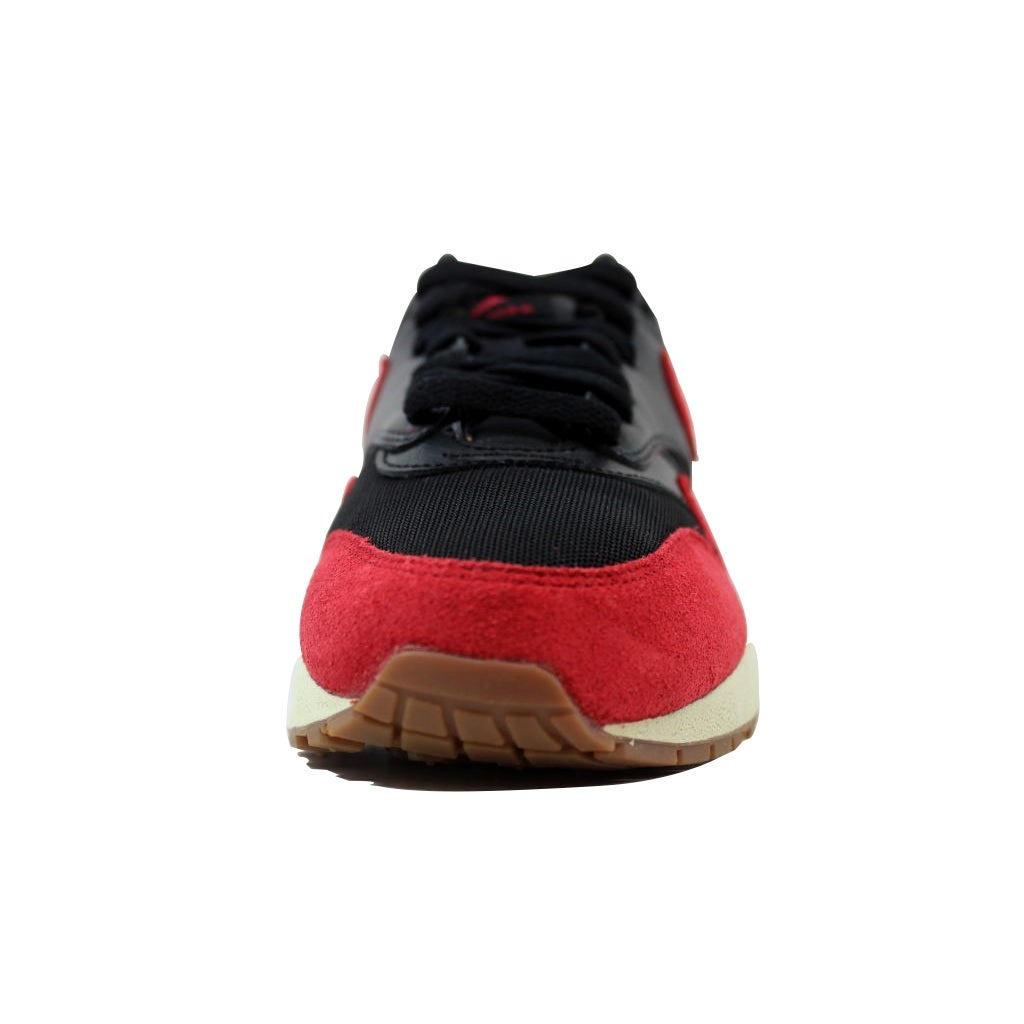 new arrival 537d3 91bef Shop Nike Air Max 1 Essential Black Gym Red-Sail-Gum Medium Brown 599820-018  Women s - On Sale - Free Shipping Today - Overstock - 21142001