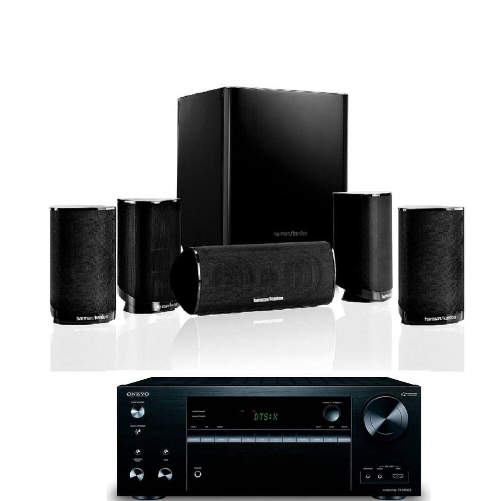 Shop Harman Kardon HKTS 9BQ 5.1-channel Home Theatre Speaker System with  Onkyo TX-NR676 7.2 Channel AV Network Receiver - Free Shipping Today ...