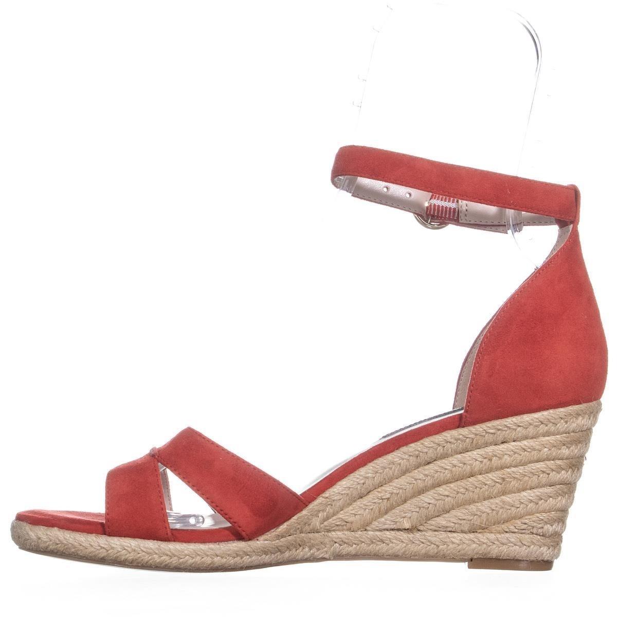 27ea386ce4 Shop Nine West Jeranna Wedge Heel Espadrilles Sandals, Red - On Sale - Free  Shipping Today - Overstock.com - 22853425