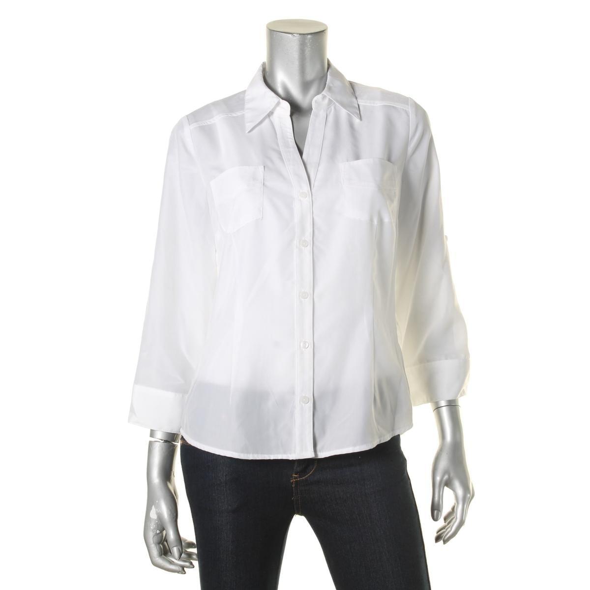 60ea0d39 Juniors Black Button Down Shirts - DREAMWORKS