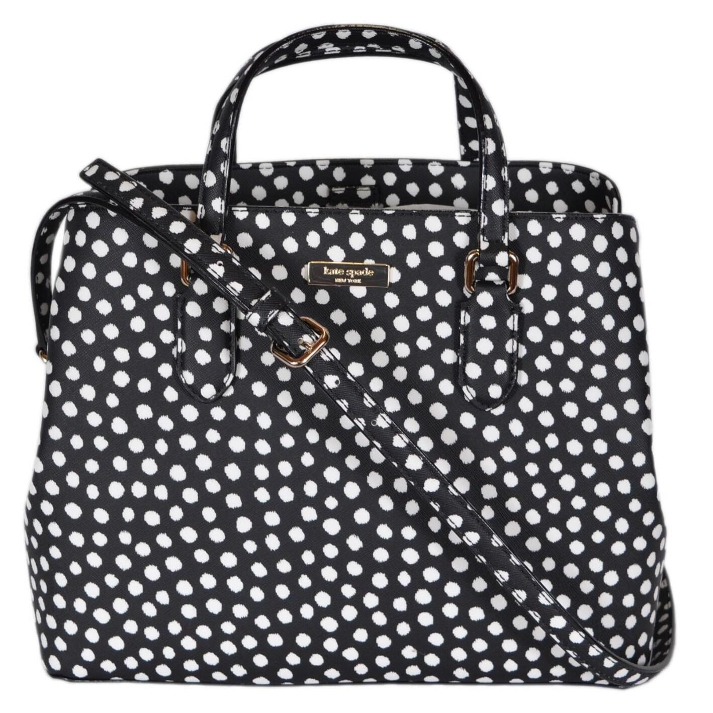 Kate Spade Musical Dot Laurel Way Medium Evangelie Handbag Purse 12 X 9 5 On Free Shipping Today 21176404