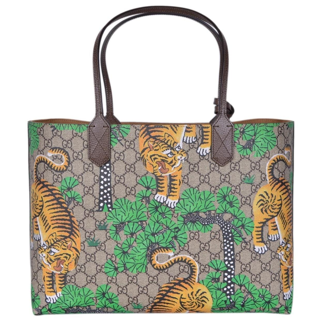 21558c3a9534 Shop Gucci Women's 412096 GG Supreme Bengal Tiger Purse Tote Handbag - Multi  - 14.96