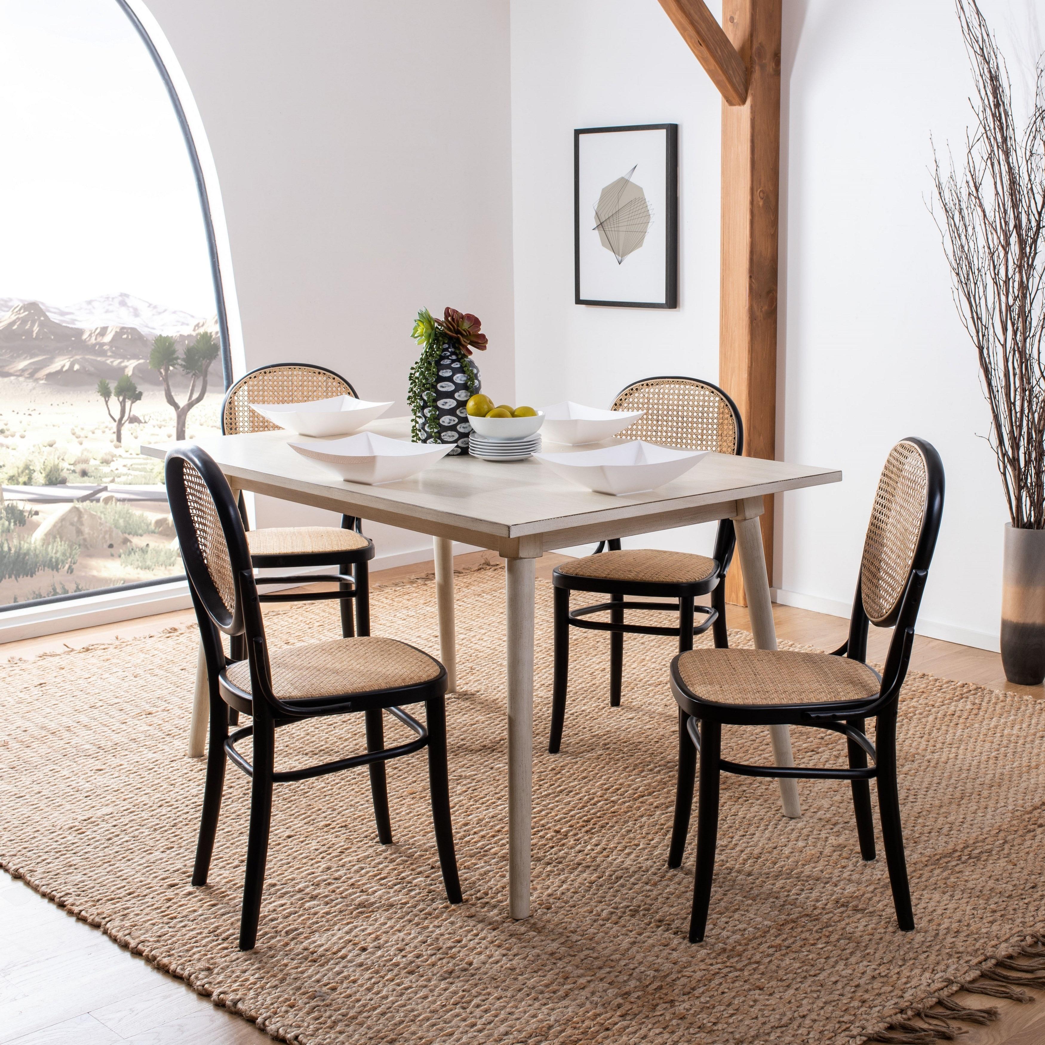 "Safavieh Sonia Modern Natural Cane Dining Chair (Set of 122) - 12122.12"" x 125.12""  x 122.12"""
