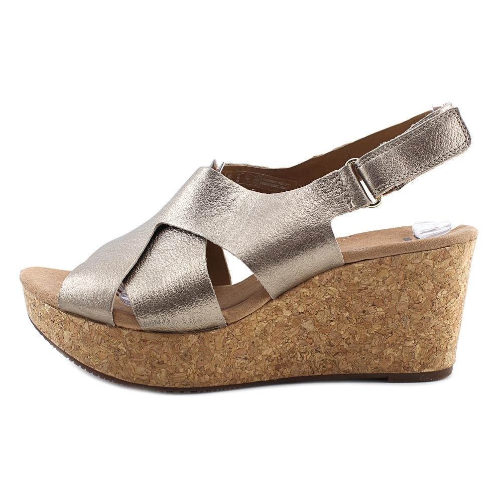 661a833d0b8 Shop Clarks Annadel Fareda Women Open Toe Leather Gold Wedge Sandal - Free  Shipping Today - Overstock - 20246879