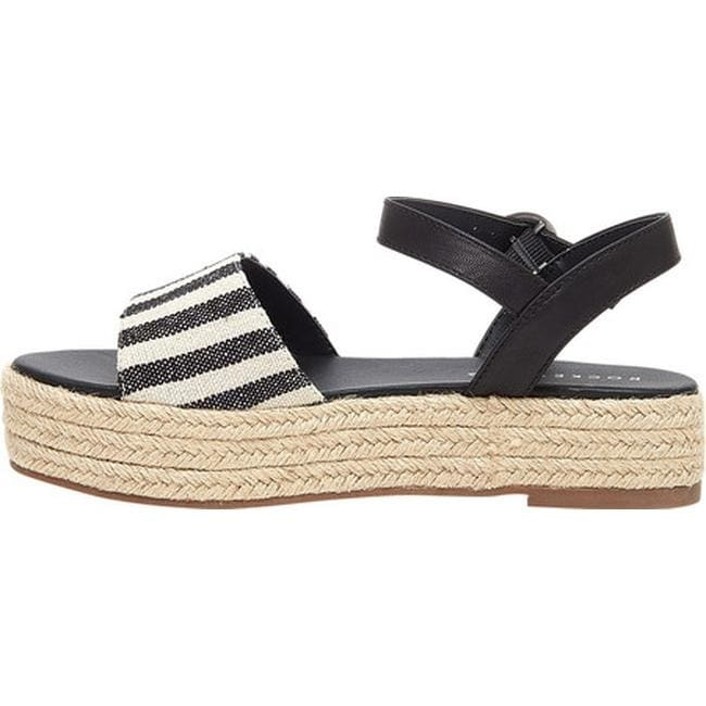 55479ebe2f0 Rocket Dog Women's Espee Espadrille Platform Sandal Black/White Cotton