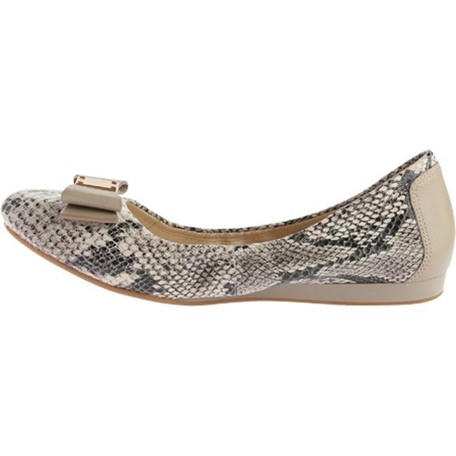 e0648d978 Shop Cole Haan Women's Tali Bow Ballet Flat Natural Roccia Snake Print -  Free Shipping Today - Overstock - 11712602