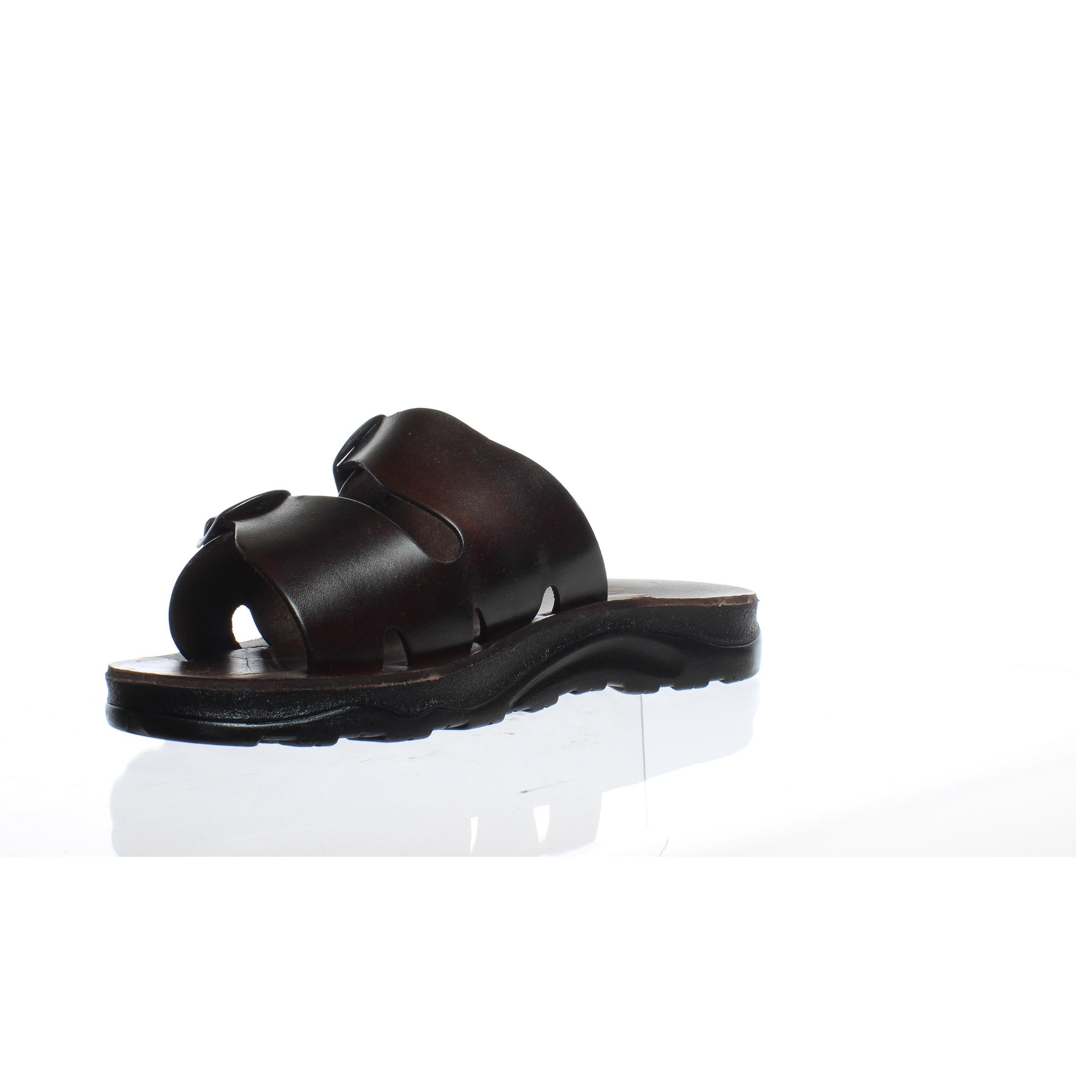 f989daaed1fa55 Shop Jerusalem Sandals Mens 108D Brown Slides EUR 44 - On Sale - Free  Shipping On Orders Over  45 - Overstock - 25461330