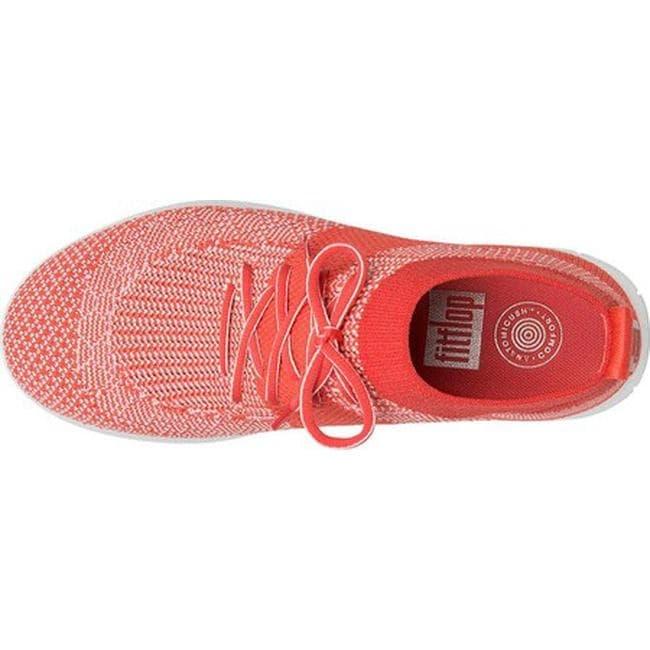 aa39f925a0f0 Shop FitFlop Women s F-Sporty Uberknit High Top Sneaker Hot Coral Neon  Blush Uberknit - Free Shipping Today - Overstock - 16995554