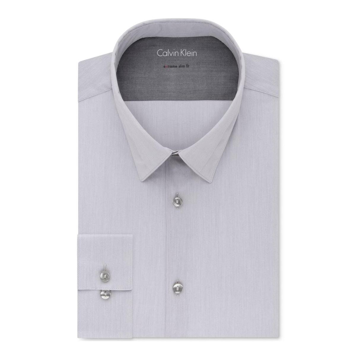 Shop Calvin Klein Mens Dress Shirt Slim Fit Button Down 16 165 34