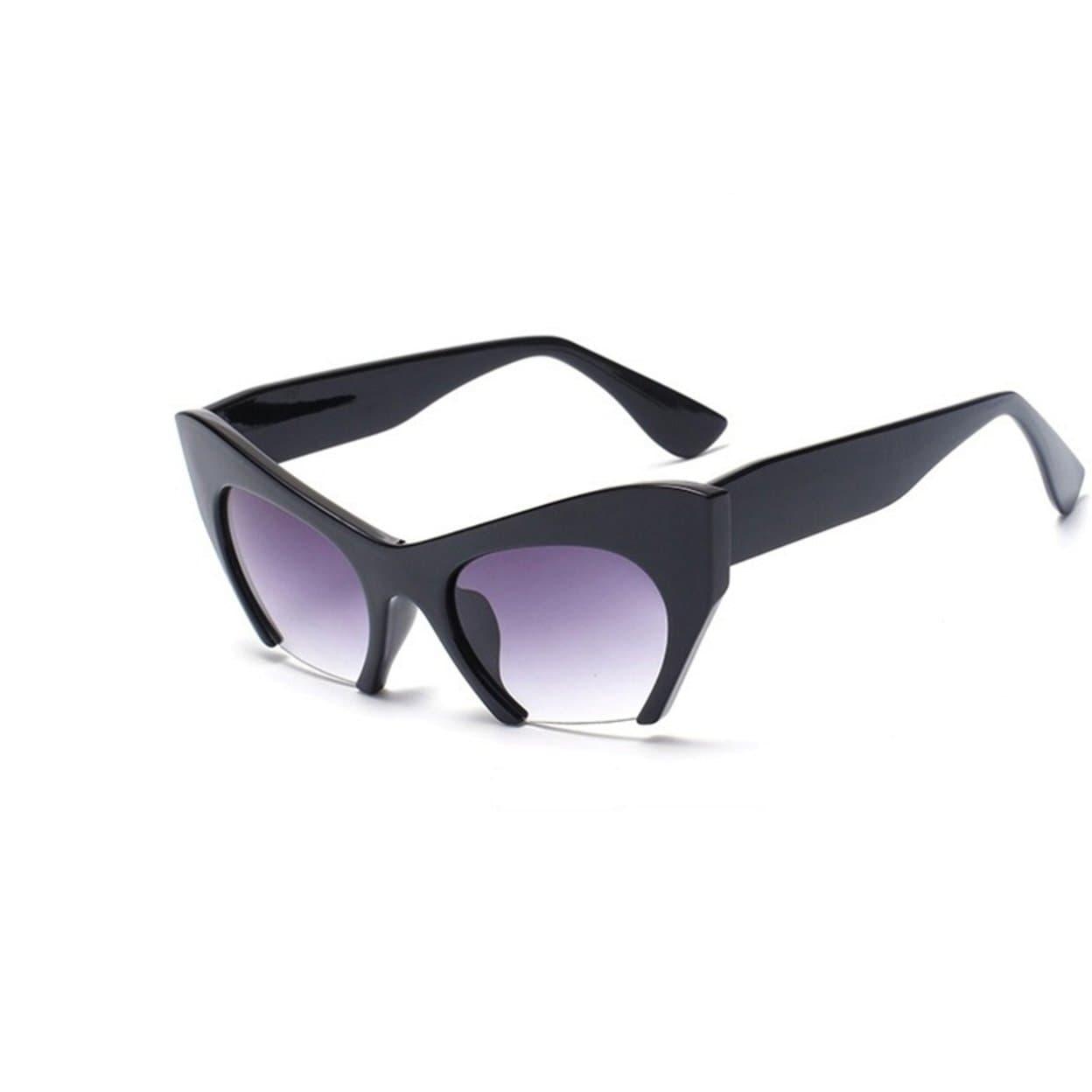 27238d9c6ca50 Shop Trendy Half Frame UV400 Eyewear Cat Eye Sunglasses Women Clear Brand  Designer Sun Glasses - On Sale - Free Shipping On Orders Over  45 -  Overstock - ...