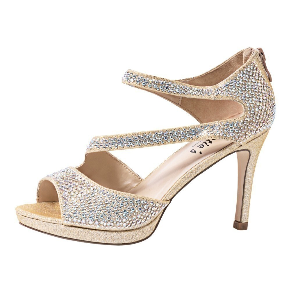 Sweeties Shoes Nude Special Occasion Ekta Platform Sandals 55 11 Womens Pu Sweet High Heels Shop Free Shipping Today 25600452