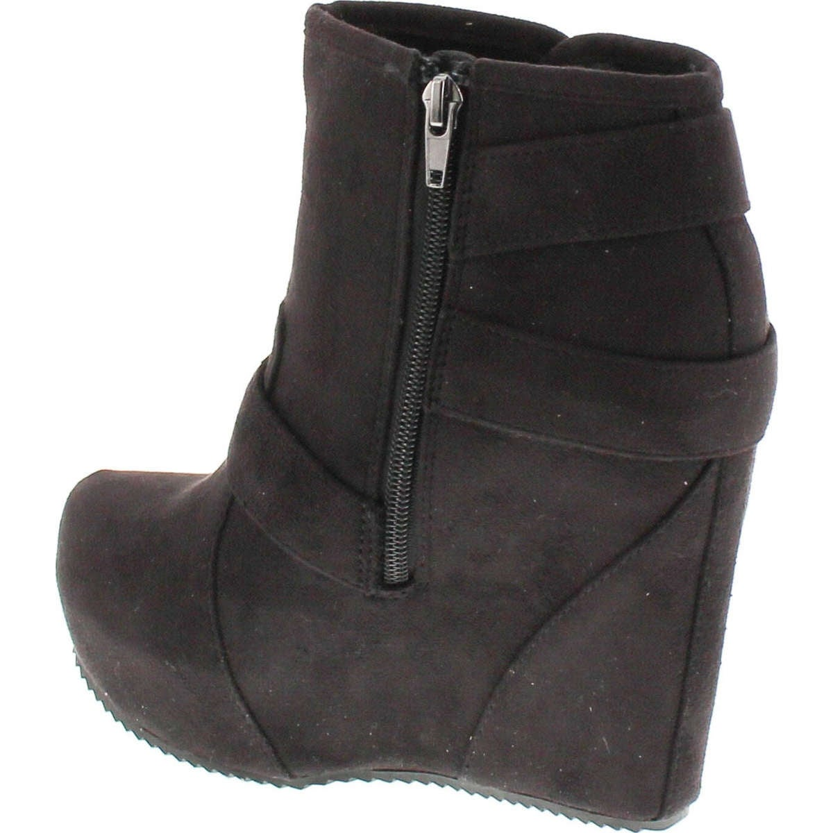 1333e49bb20ef Shop Soda Women's Besso Faux Suede Triple Buckle Platform Wedge Ankle  Bootie Boot - Free Shipping On Orders Over $45 - Overstock - 14756492