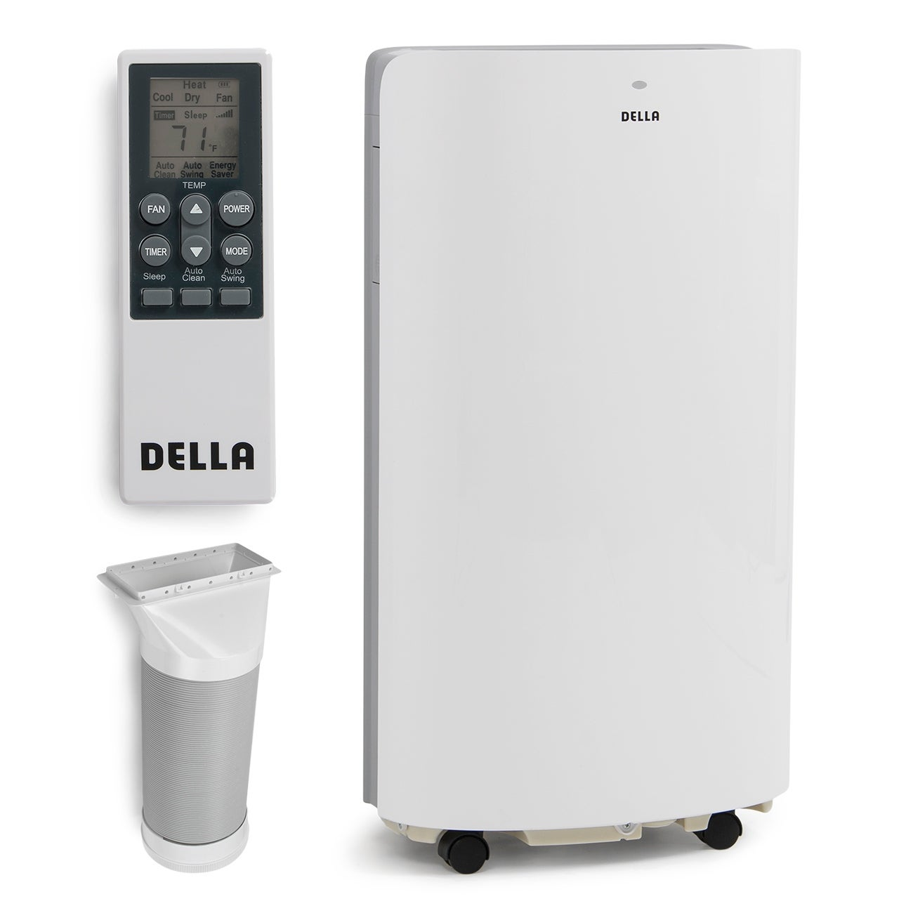 Shop Della 14,000 BTU Evaporative Portable Air Conditioner / Heater /  Dehumidifier / Cooling Function LED Panel Control - Free Shipping Today ...