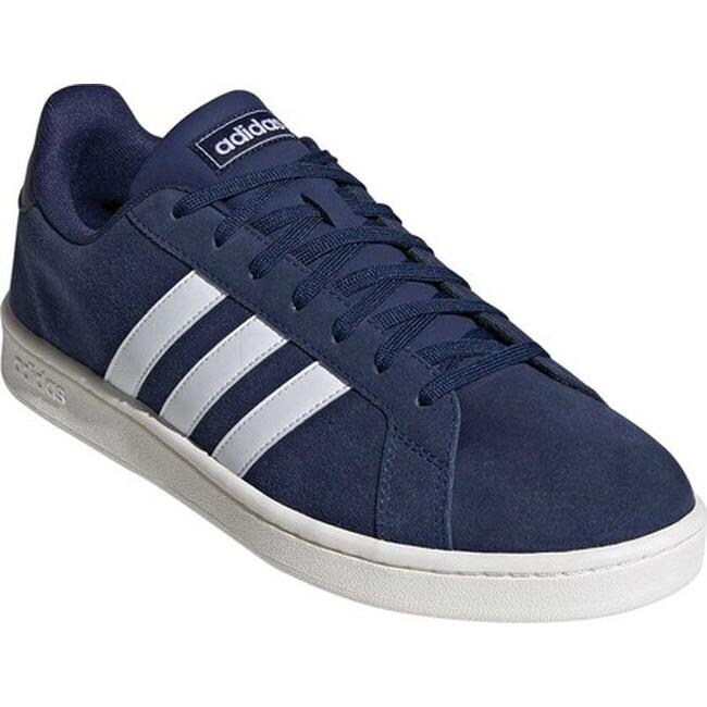 c366cc0e adidas Men's Grand Court Sneaker Dark Blue/FTWR White/Cloud White