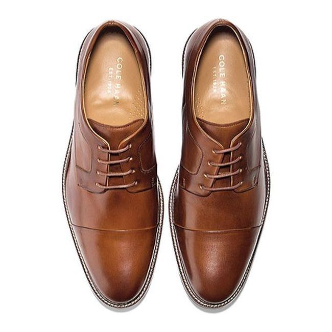 da25ceb659e Shop Cole Haan Men s Warren Cap Toe Oxford British Tan - Free Shipping  Today - Overstock - 10838554