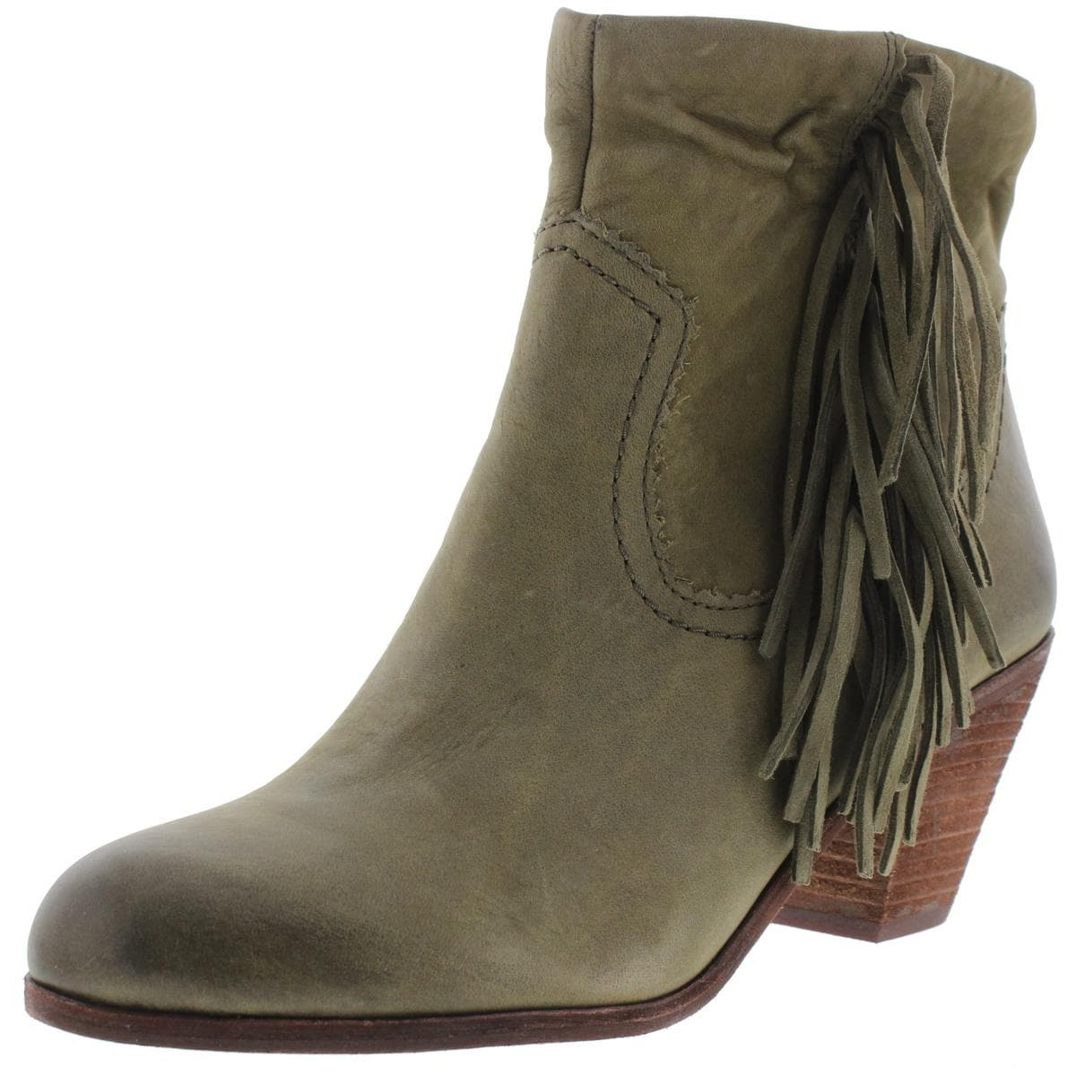73f9e989c951 Shop Sam Edelman Womens Louie Ankle Boots Fold Over Fringe - Free Shipping  Today - Overstock - 13688942