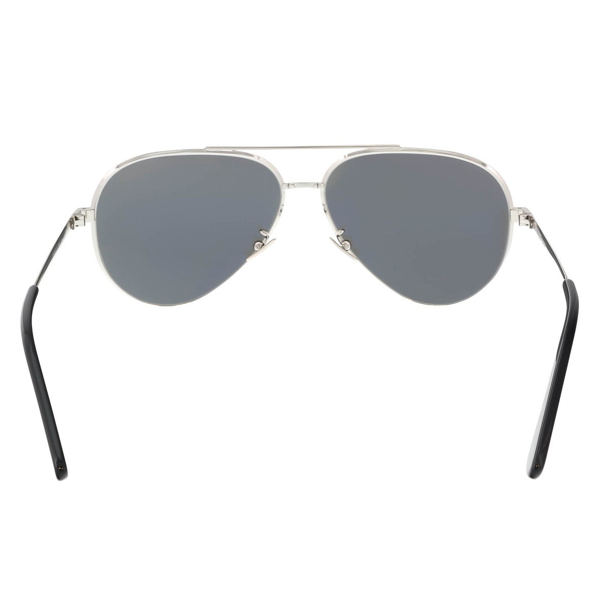 d3261dcded1 Shop Saint Laurent CLASSIC 11 ZERO-001 Silver Aviator - 60-13-145 - Free  Shipping Today - Overstock - 16256157