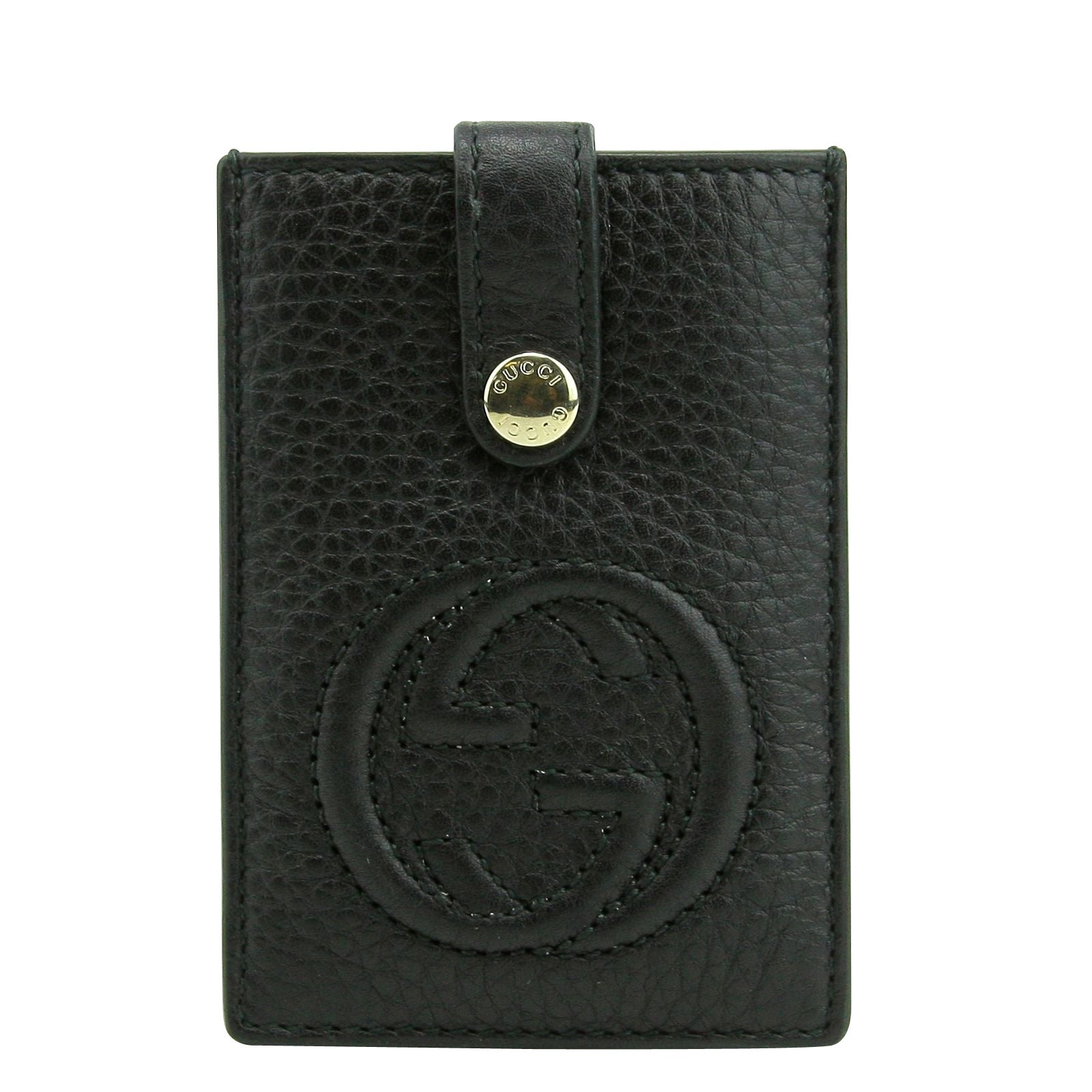 buy online 7d313 5c88e Gucci Women's Interlocking G SOHO Black Leather Credit Card Holder 338331  1000 - One size