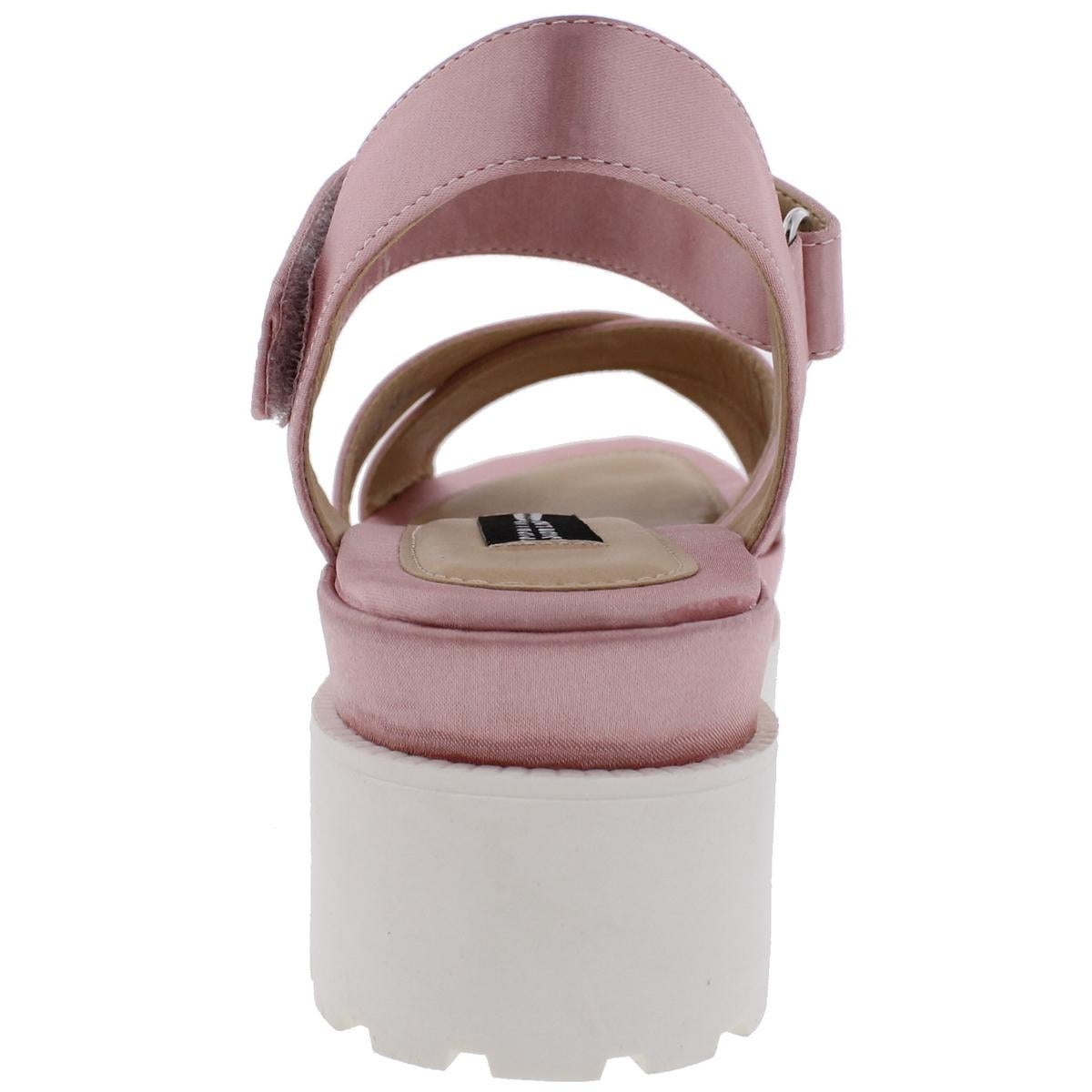 2d53a0c3c0b5 Shop Design Lab Womens Faima Platform Sandals Satin Casual - Free Shipping  On Orders Over  45 - Overstock - 21220902
