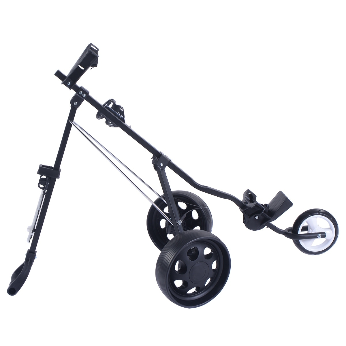 Shop Costway Foldable 3 Wheel Push Pull Golf Cart /Cup Holder ... on golf caddy cup holder, golf bag cup holder, golf pull cart tires, clicgear cup holder, golf pull cart seat, bag boy push cart cup holder,