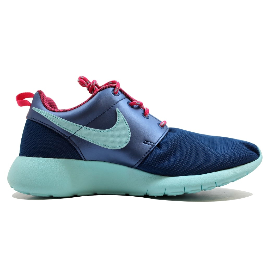 16586fa28b8a Shop Nike Grade-School Roshe One 1 Insignia Blue Copa-Vivid Pink 599729-406  - Free Shipping Today - Overstock.com - 19509807