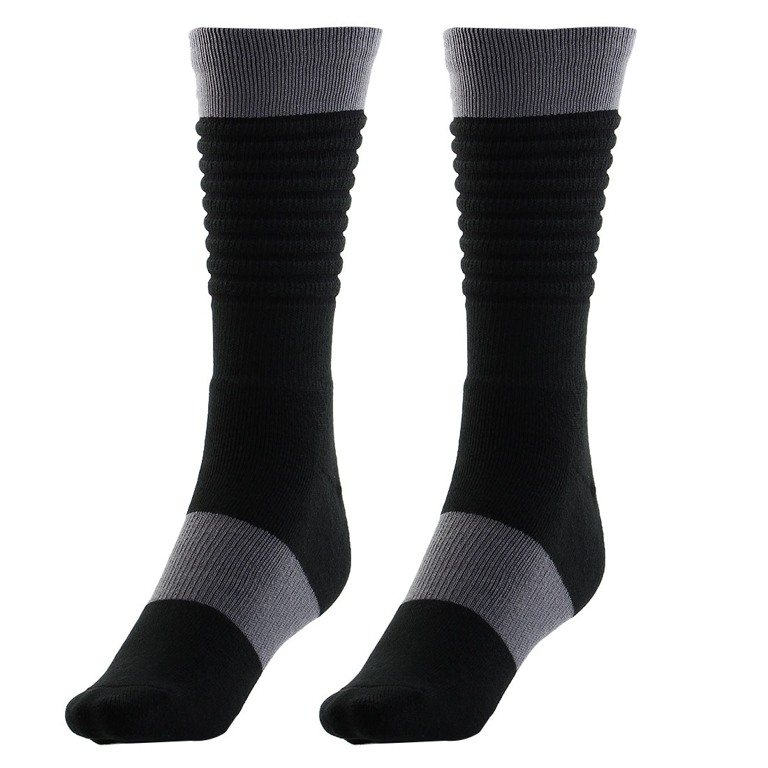 a2451588ef0 Basketball Multi Performance Running Exercise Trekking Hiking Socks Black  Pair