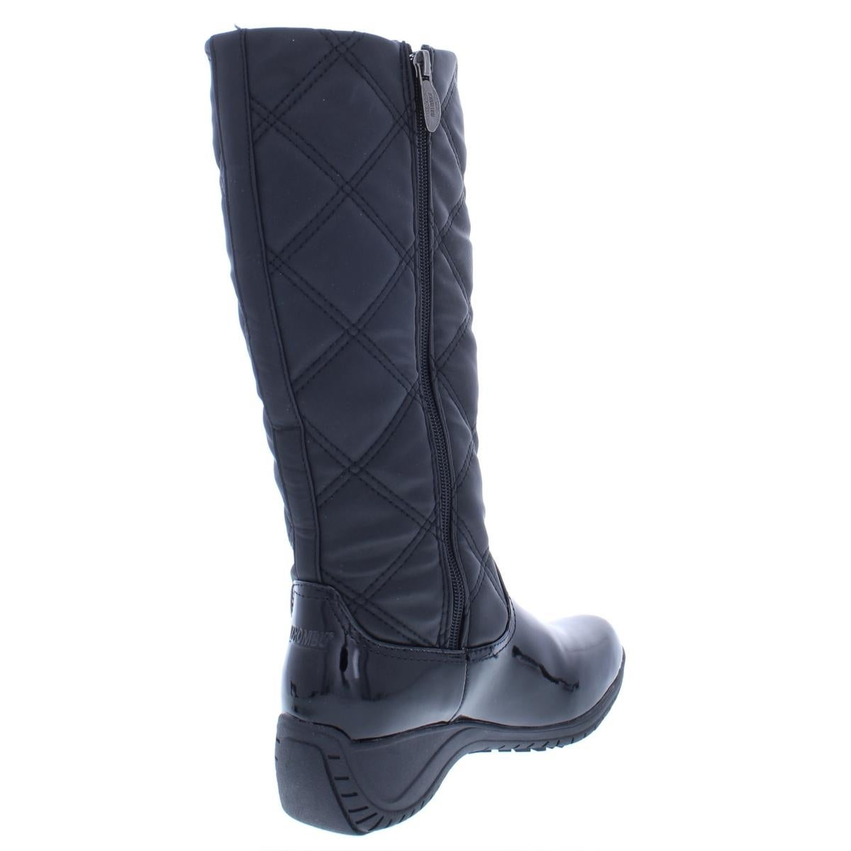 330d7cfd71862 Shop Khombu Womens Addison Wedge Boots Quilted Knee-High - Free Shipping On  Orders Over $45 - Overstock - 24208498