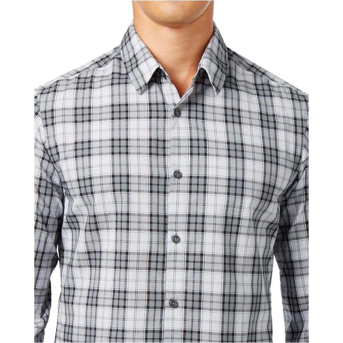 6a9a82b8b Shop Hugo Boss Green Label Briar Valiant Plaid Long Sleeve Shirt Grey - Free  Shipping Today - Overstock - 17306350