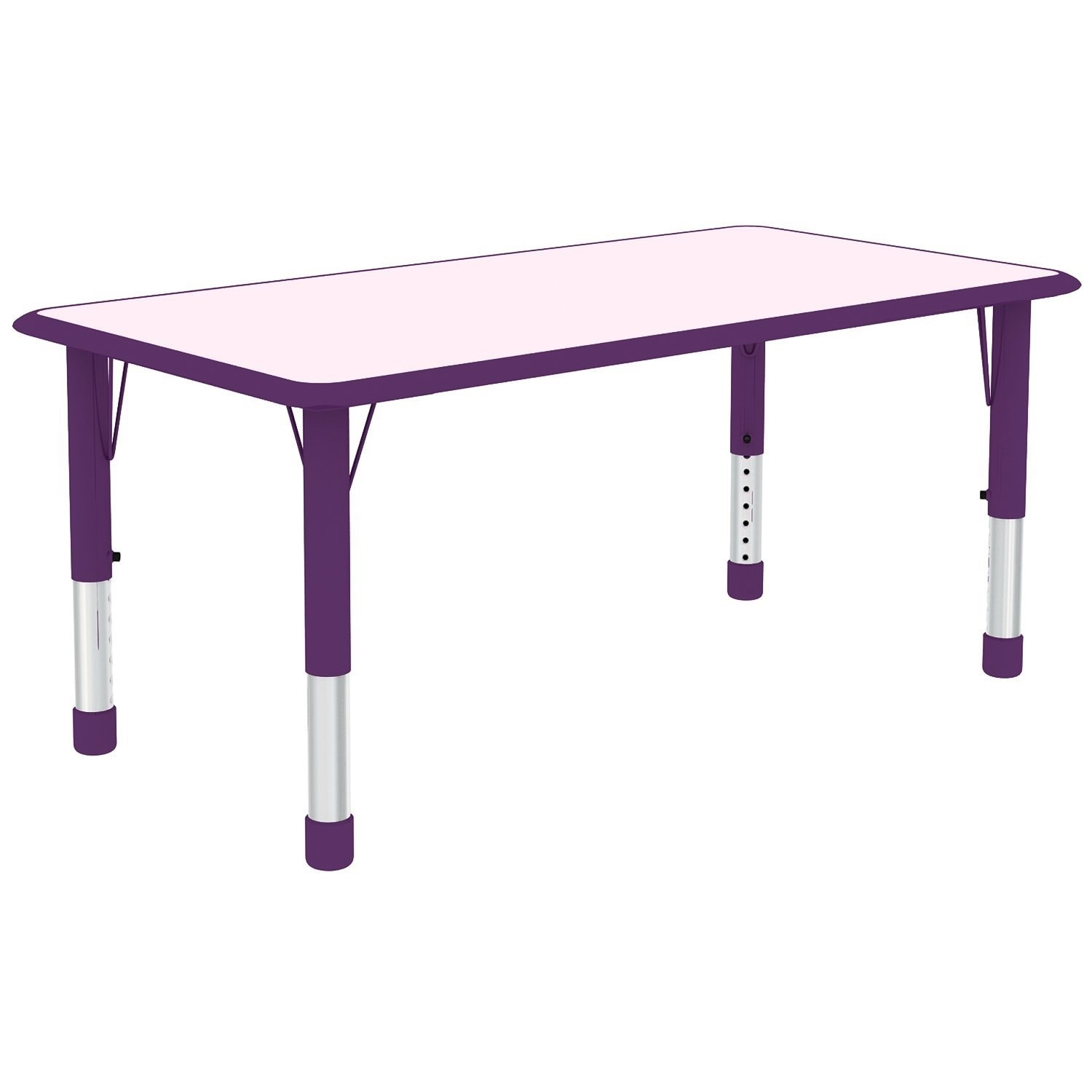 Bon Shop 2xhome Adjustable Height Table For Toddler Child Kids Children  Preschool School Daycare Wood Activity Table Modern Home Purple   Free  Shipping Today ...