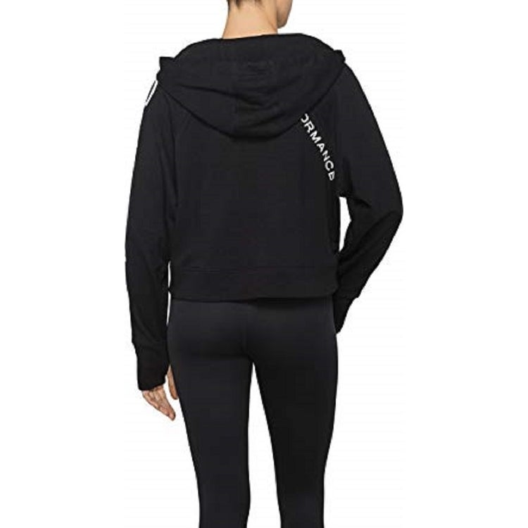 336be81c9a630 Shop Calvin Klein Performance Women s Logo Terry Hoodie Black Size Small -  S - Free Shipping On Orders Over  45 - Overstock - 23125173