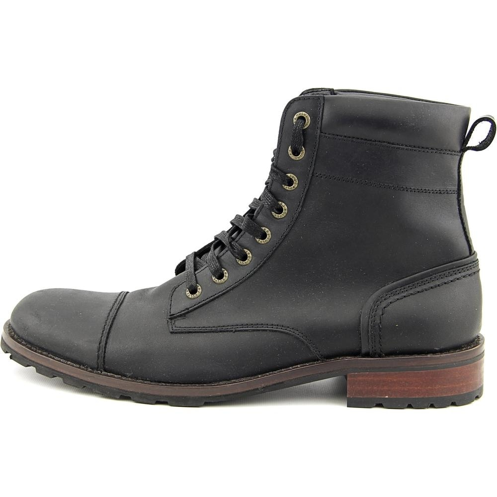 Shop Wolverine Reese Men Cap Toe Leather Black Boot - Free Shipping ...