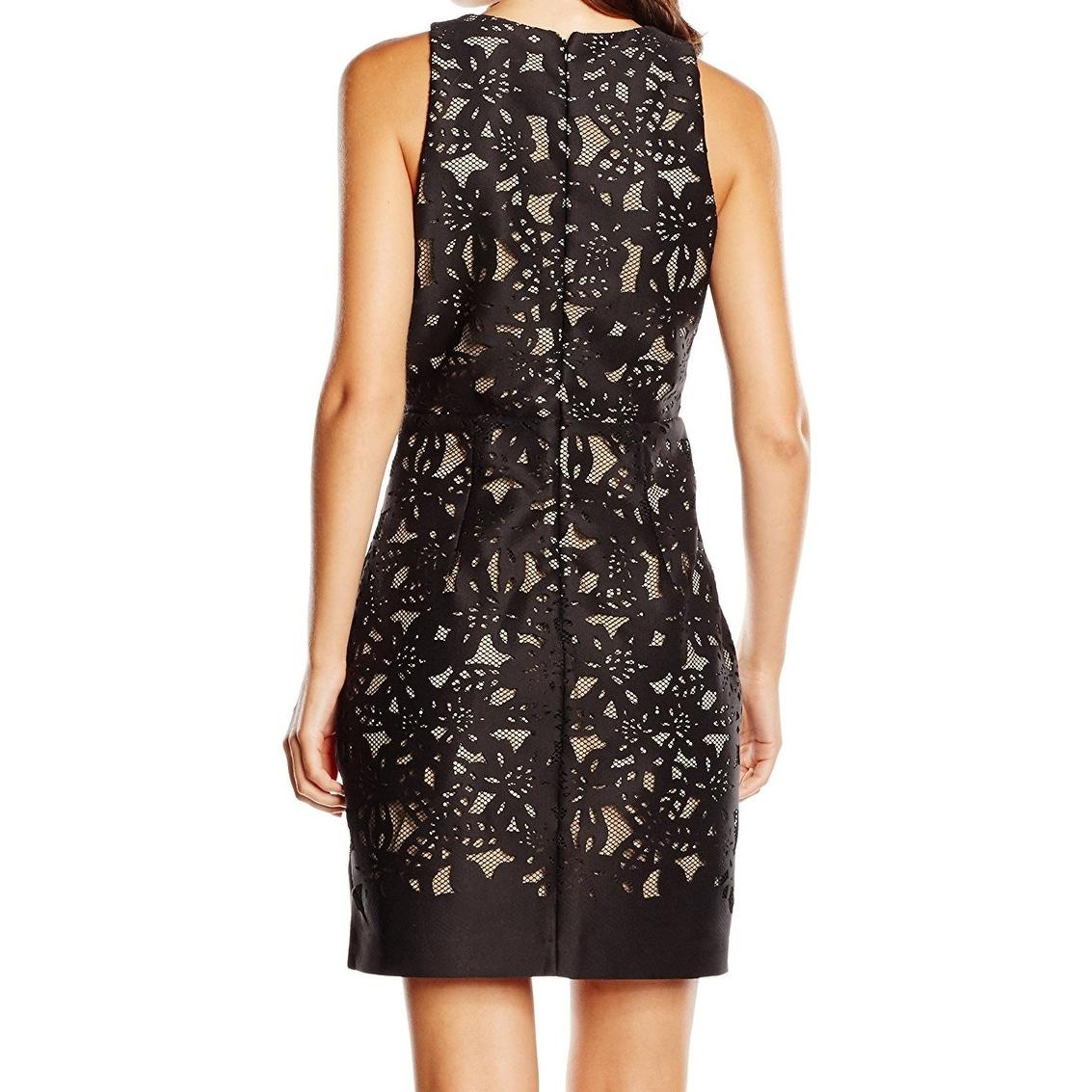 Shop Belle Badgley Mischka NEW Black Womens Size 12 Lasercut Sheath ...