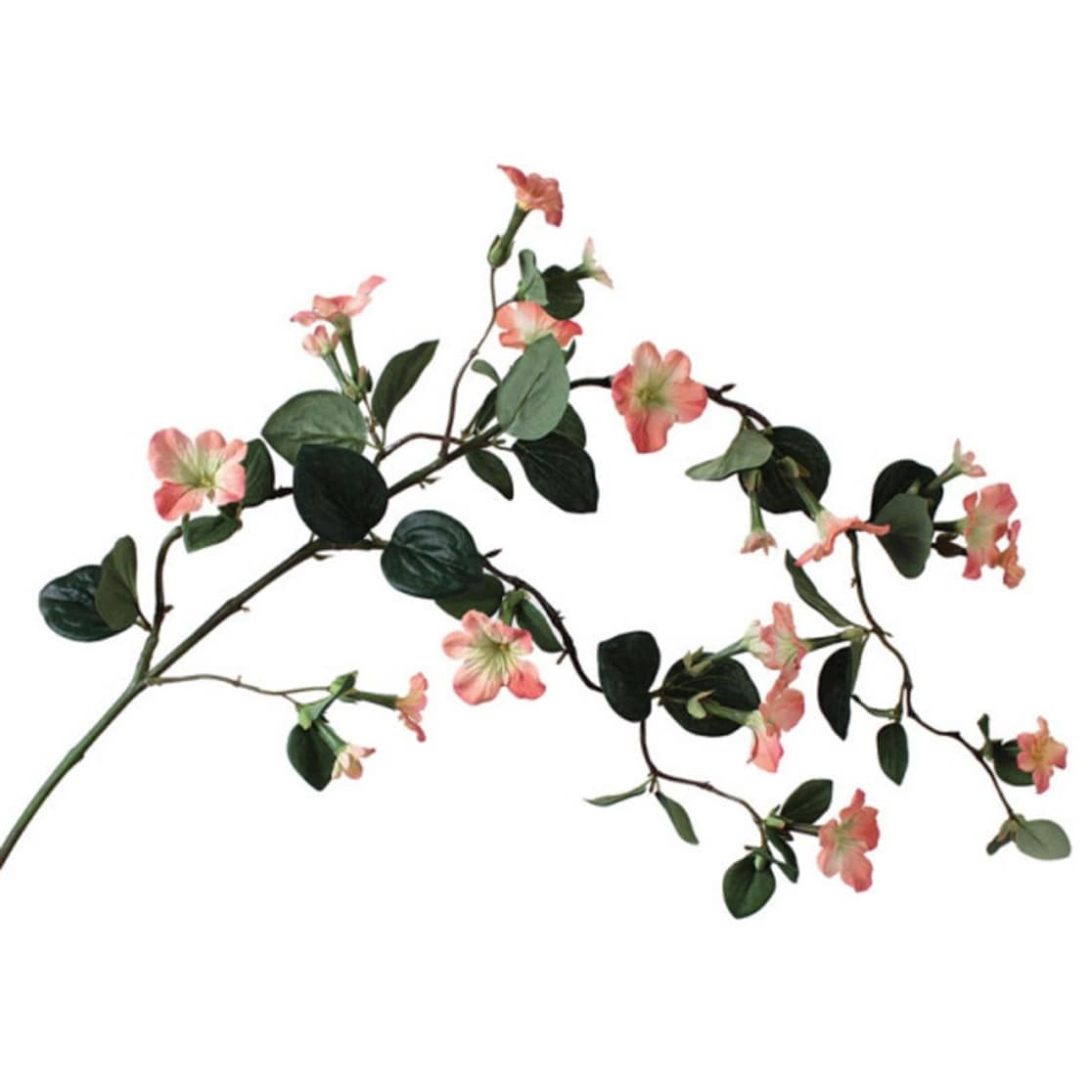 Shop Pack Of 6 Artificial Coral Stephanotis Flower And Leaf Hanging