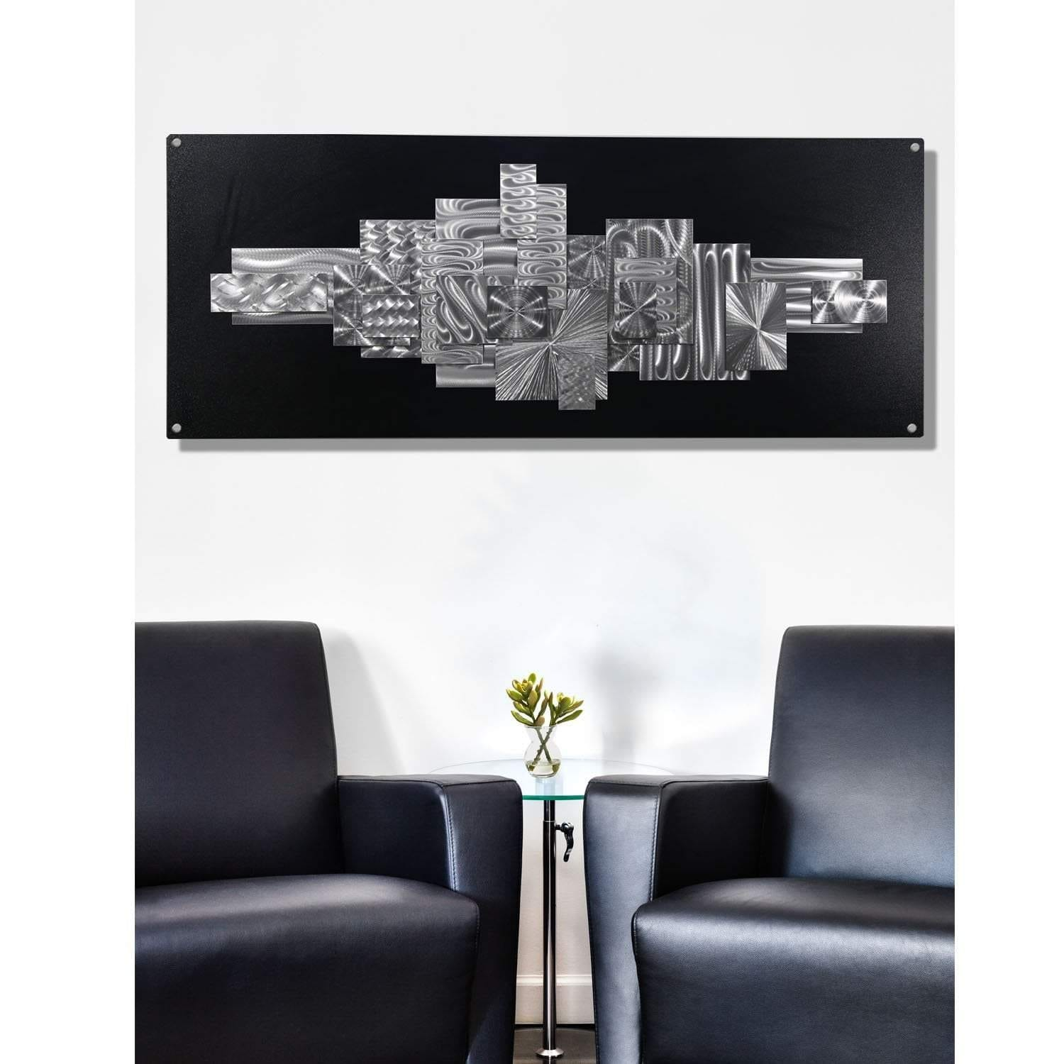 Statements2000 Black Silver Large Abstract Metal Wall Art Sculpture By Jon Allen Time Suspended 2 On Free Shipping Today