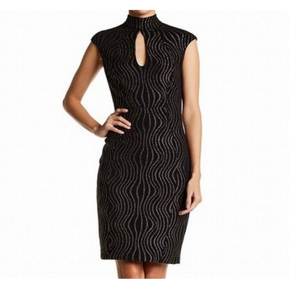 f62413f1872 Shop Jax NEW Black Womens Size 2 Texture Mock-Neck Cut-Out Sheath Dress -  Free Shipping On Orders Over  45 - Overstock.com - 18317972