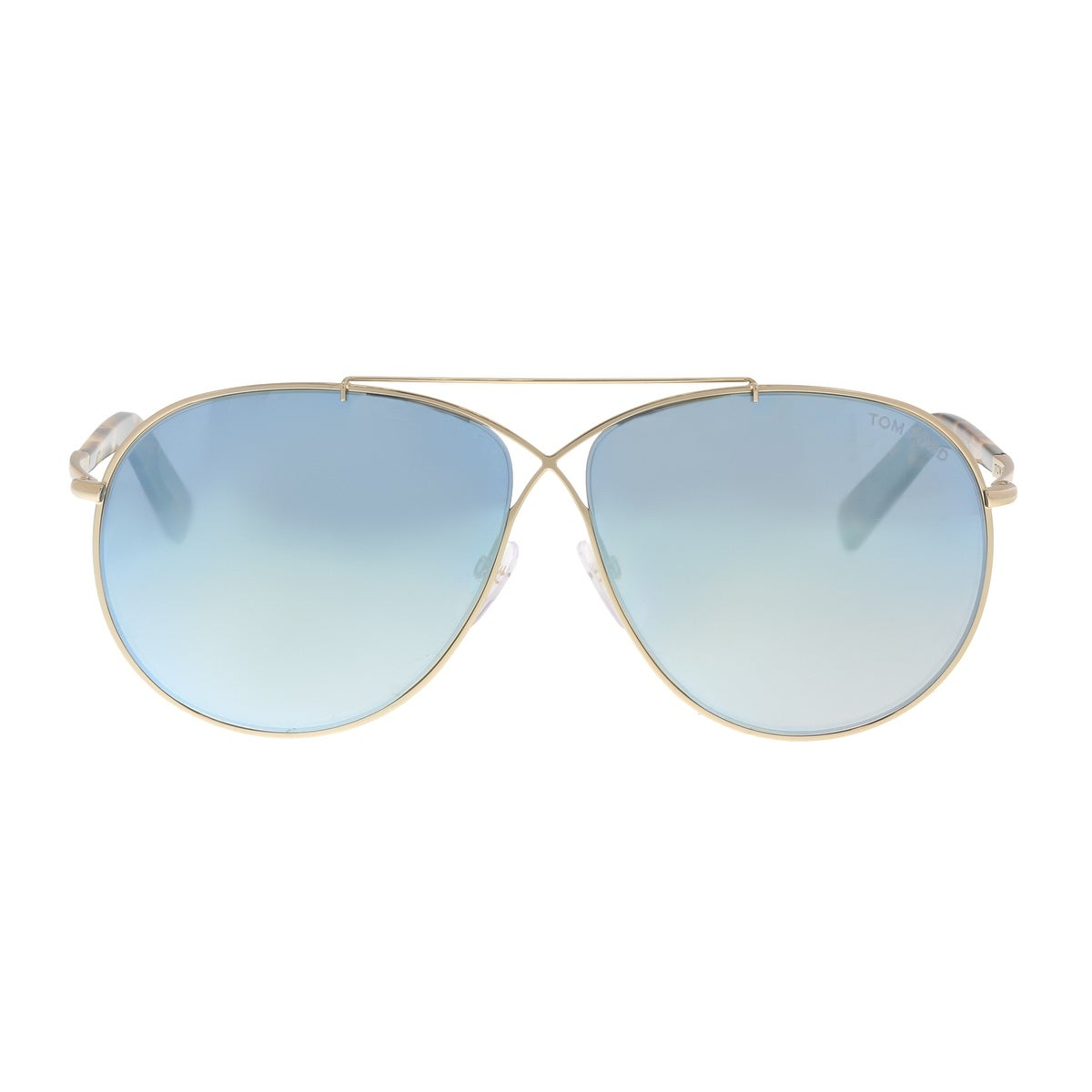 b1e296e7ea42 Shop Tom Ford FT0374 S 28X Eva Gold Aviator Sunglasses - 61-10-140 - Free  Shipping Today - Overstock - 19518836