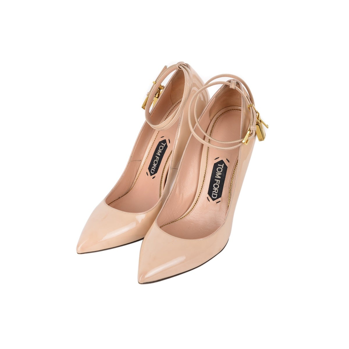 2e109c6ebf5 Shop Tom Ford Womens Blush Lacquered Leather Padlock Pumps - Free Shipping  Today - Overstock - 27215909