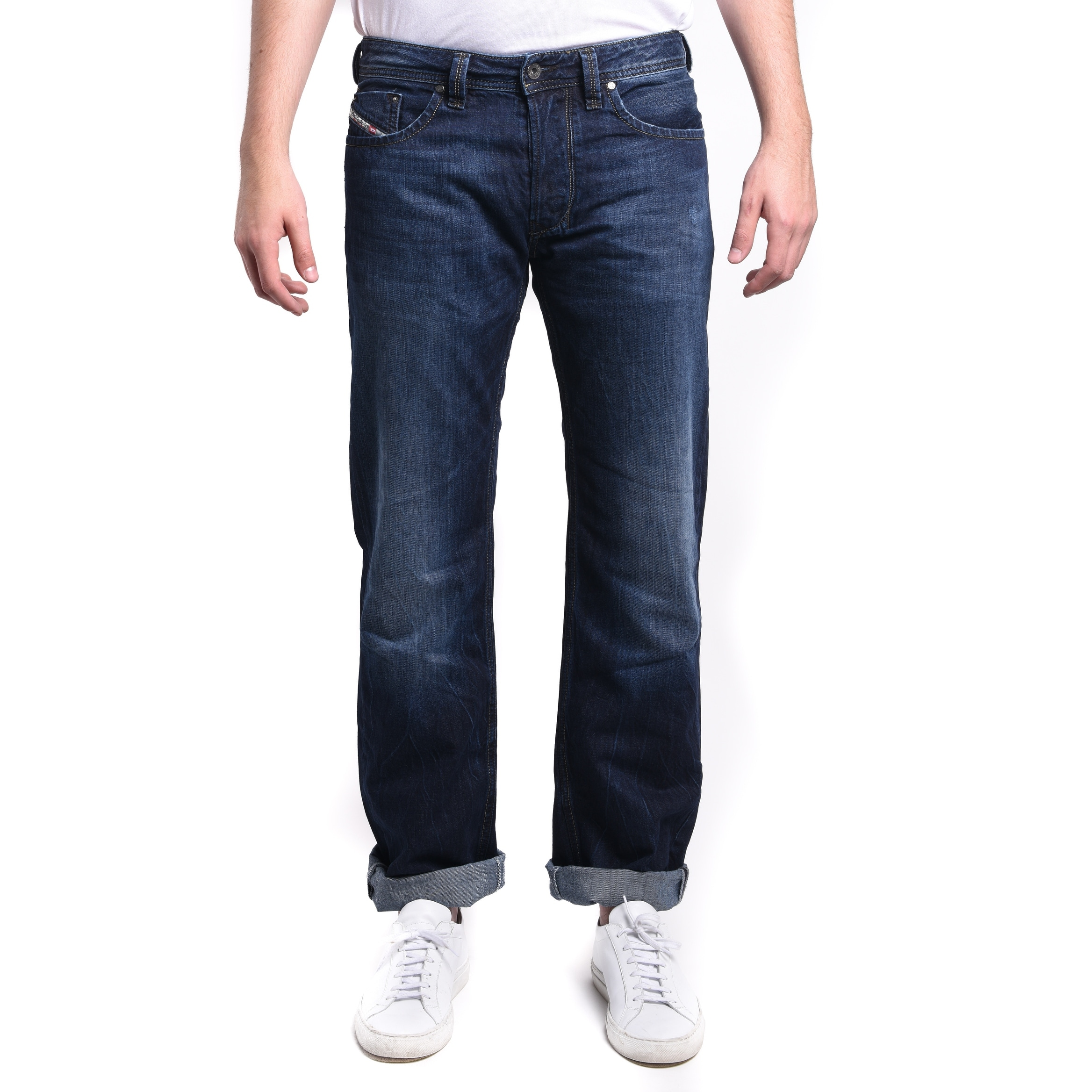 c924ccd6 Shop Diesel Men's Larkee Regular Straight Denim Jeans 0RM80 - Free Shipping  Today - Overstock.com - 13548711