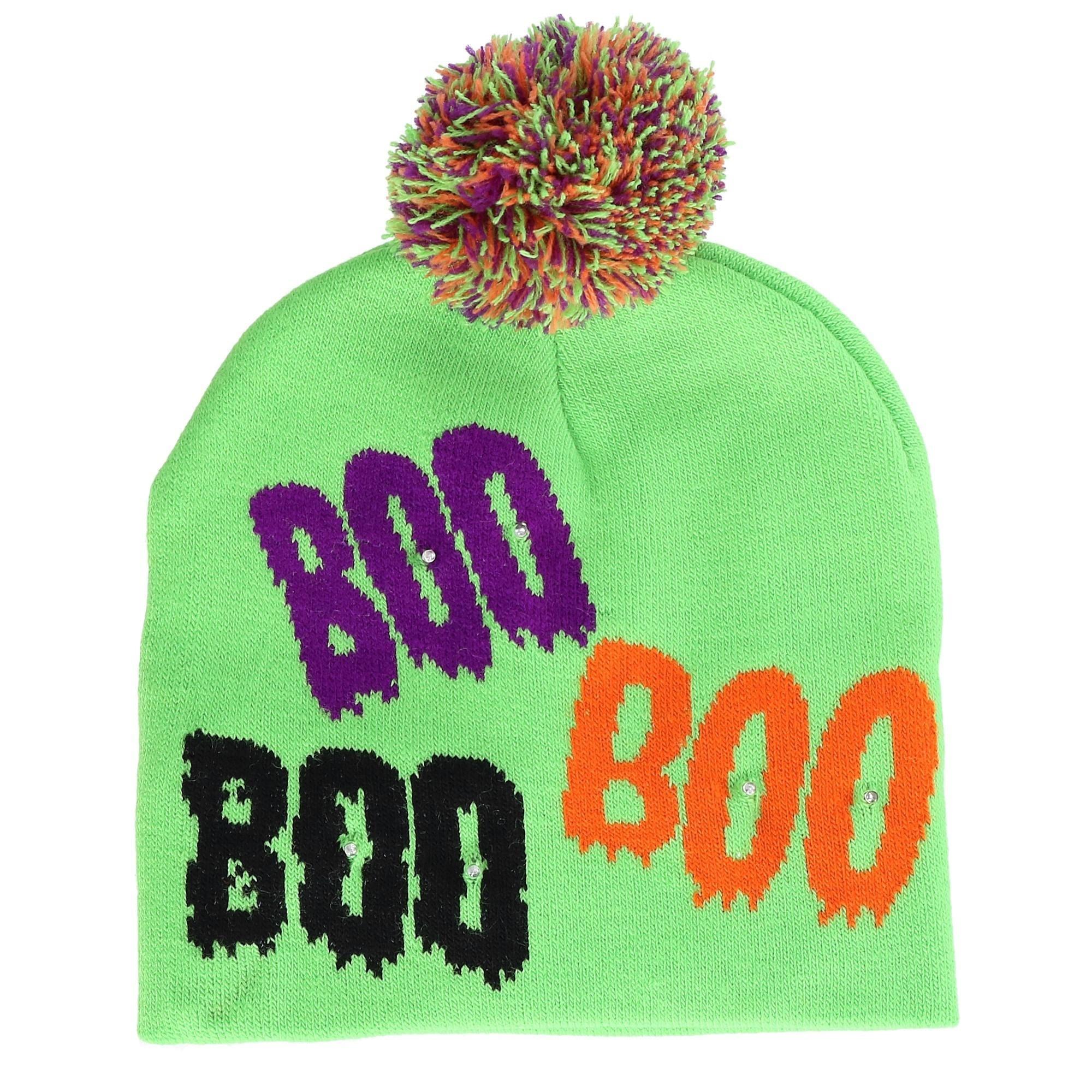 1728cec210542 Shop Lots a Lites Novelty Flashing Lights Halloween Beanie Hat ...