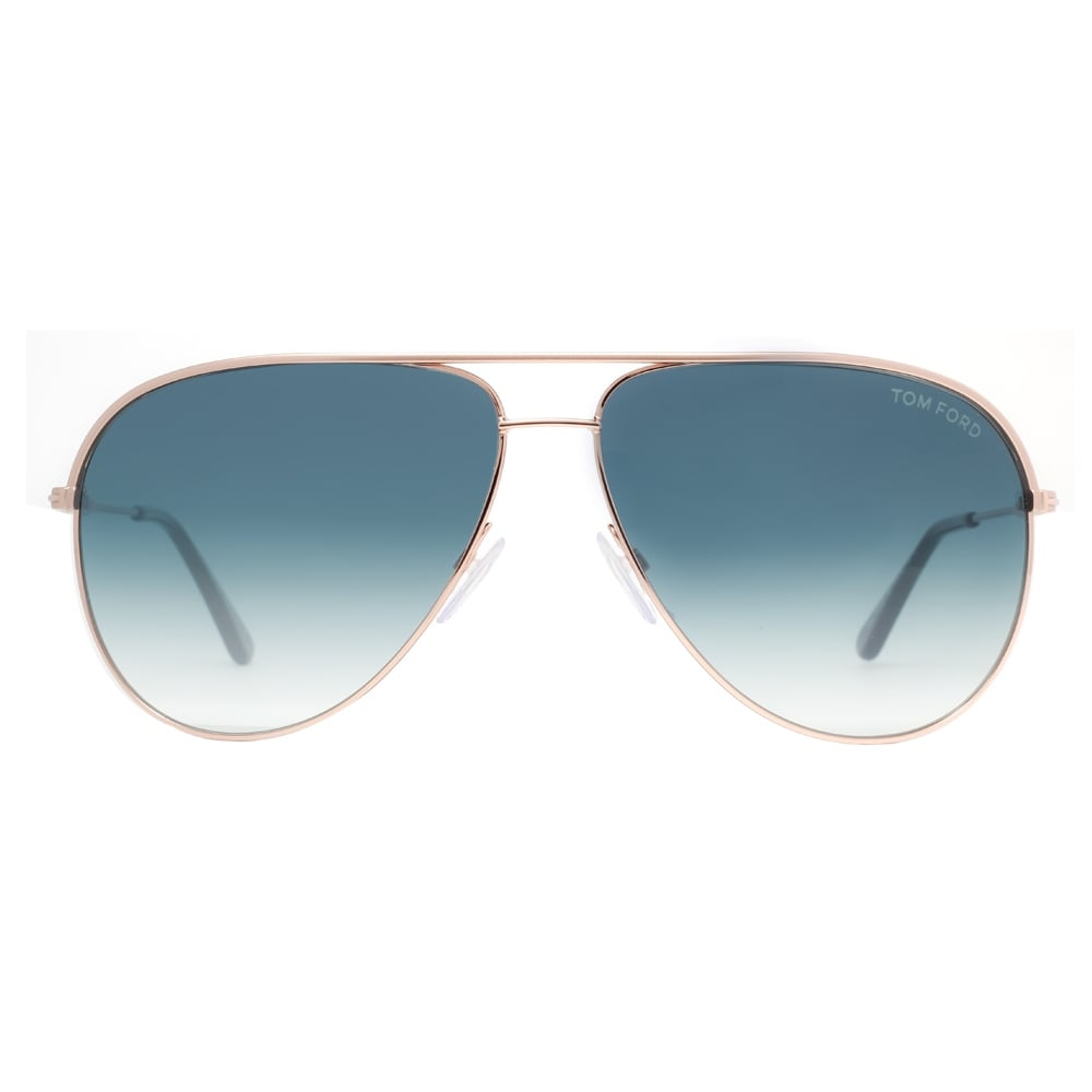 713a0cb555 Shop Tom Ford Erin TF 466 29P Gold Blue Gradient Aviator Sunglasses - Matte  Gold - 61mm-12mm-140mm - Free Shipping Today - Overstock - 14050852