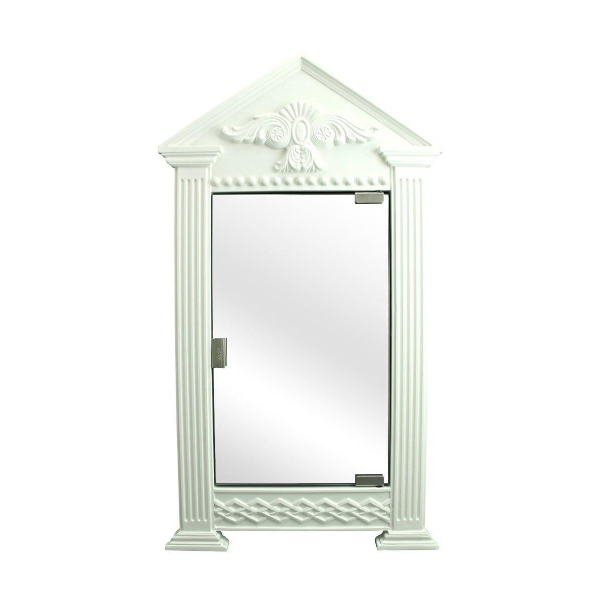 Renovators Supply Premium White Urethane Medicine Cabinet Organizer Corner Shelves Colonial Design With Mirror