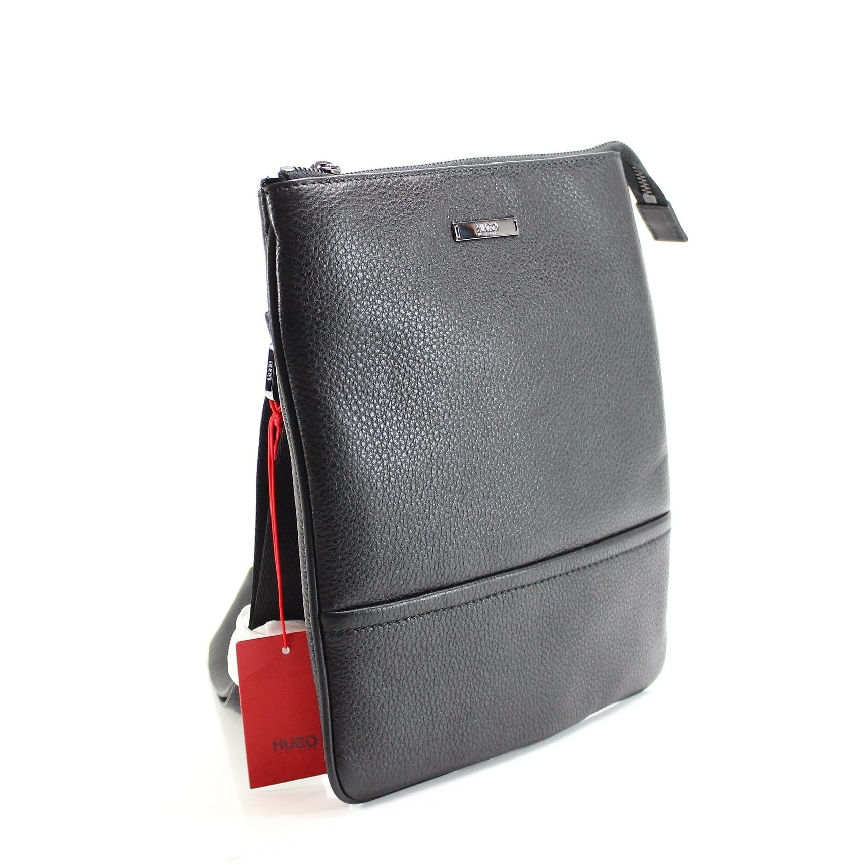 a35d3a2587 Shop HUGO BOSS Black Element Workbag Messenger Shoulder Bag Leather - Free  Shipping Today - Overstock - 22367831